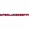 Czech Druk Beads 3mm Transparent Garnet Aurora Borealis